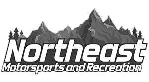 Northeast Motorsports logo features a white snowy mountain.