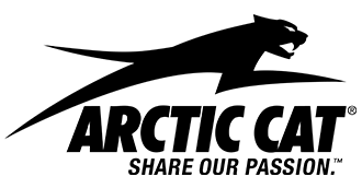Black Arctic Cat logo